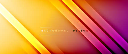Bright gradient neon lines abstract background Vector Illustration