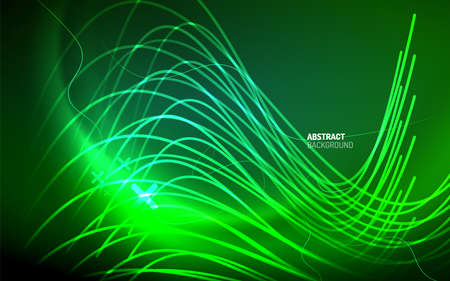 Abstract background - neon line design for Wallpaper, Banner, Background, Card, Book Illustration, landing page  イラスト・ベクター素材