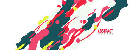 Trendy liquid style shapes abstract design, dynamic background for placards, brochures, posters, web landing pages, covers or banners