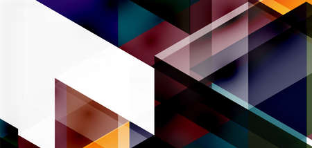 Geometric abstract background, mosaic triangle and hexagon shapes. Trendy abstract layout template for business or technology presentation, internet poster or web brochure cover, wallpaper Illustration