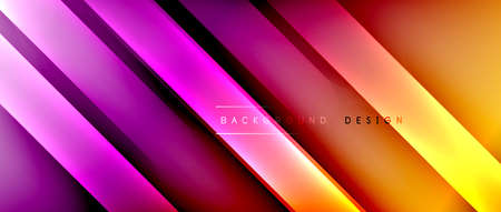 Bright gradient neon lines abstract background