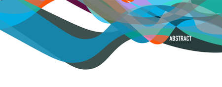 Fluid wave colorful abstract background. Dynamic colorful vibrant vector design Vettoriali