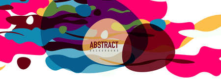 Trendy liquid style shapes abstract design, dynamic vector background for placards, brochures, posters, web landing pages, covers or banners