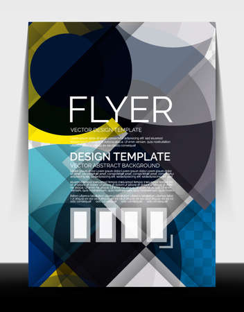 A4 flyer annual report circle design, vector background print template