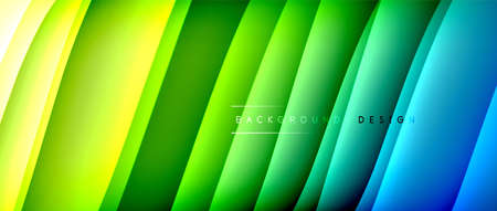 Fluid gradient waves with shadow lines and glowing light effect, modern flowing motion abstract background for cover, placards, poster, banner or flyer 矢量图像