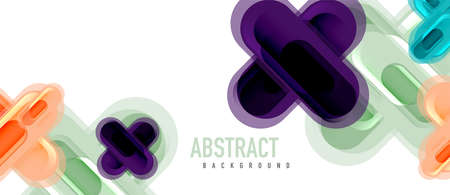 Modern vector glass cross shape abstract technology background for cover, placard, poster, banner or flyer