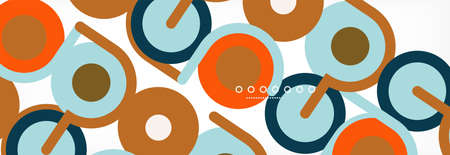 Circles and lines abstract background for covers, banners, flyers and posters and other templates