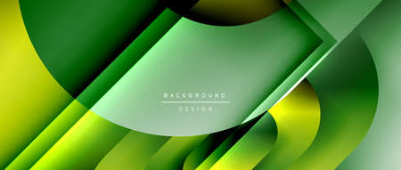 Vector geometric abstract background with lines and modern forms. Fluid gradient with abstract round shapes and shadow and light effects