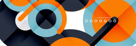 Circles and lines abstract background for covers, banners, flyers and posters and other templates 일러스트