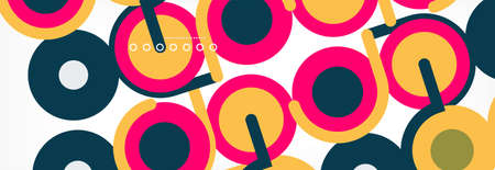 Circles and lines abstract background for covers, banners, flyers and posters and other templates  イラスト・ベクター素材