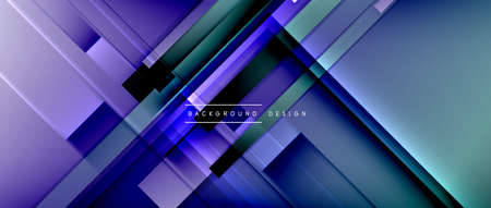 Dynamic lines on fluid color gradient. Trendy geometric abstract background for your text,   or graphics