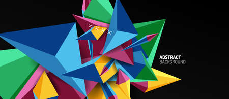 Trendy simple triangle abstract background, dynamic motion concept. Vector Illustration For Wallpaper, Banner, Background, Card, Book Illustration, landing page Ilustrace