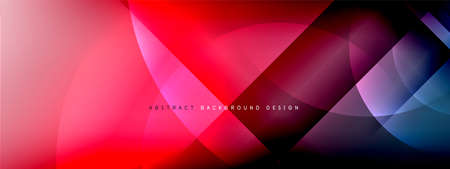 Vector abstract background - circle and cross on fluid gradient with shadows and light effects. Techno or business shiny design templates for text Ilustrace