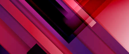 Dynamic lines on fluid color gradient. Trendy geometric abstract background for your text. Ilustração