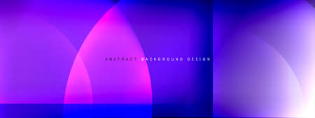 Vector abstract background - circle and cross on fluid gradient with shadows and light effects. Techno or business shiny design templates for text Illustration