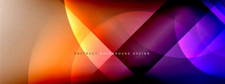 Vector abstract background - circle and cross on fluid gradient with shadows and light effects. Techno or business shiny design templates for text Vectores