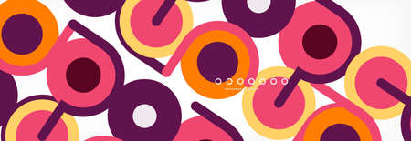 Circles and lines abstract background for covers, banners, flyers and posters and other templates Vectores