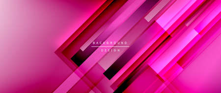 Dynamic lines on fluid color gradient. Trendy geometric abstract background for your text, graphics
