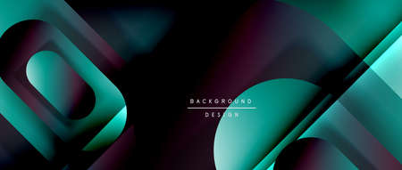 Vector geometric abstract background with lines and modern forms. Fluid gradient with abstract round shapes and shadow and light effects Stock fotó - 154643983