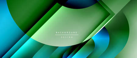 Vector geometric abstract background with lines and modern forms. Fluid gradient with abstract round shapes and shadow and light effects Stock fotó - 154643986