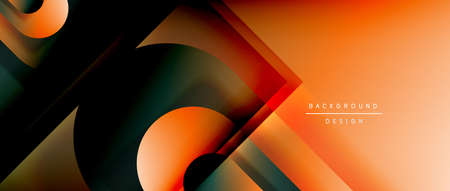 Vector geometric abstract background with lines and modern forms. Fluid gradient with abstract round shapes and shadow and light effects Stock fotó - 154679775