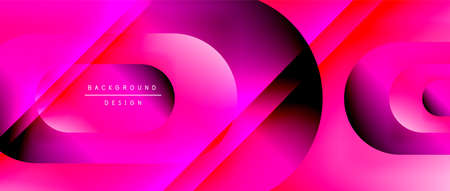 Vector geometric abstract background with lines and modern forms. Fluid gradient with abstract round shapes and shadow and light effects Stock fotó - 154679779