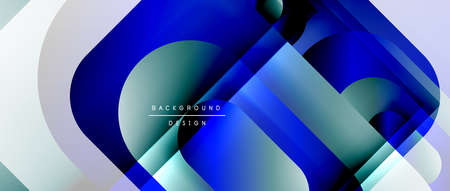 Vector geometric abstract background with lines and modern forms. Fluid gradient with abstract round shapes and shadow and light effects Stock fotó - 154679787