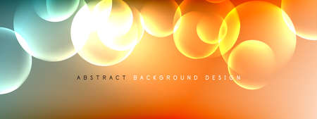Vector abstract background liquid bubble circles on fluid gradient with shadows and light effects. Shiny design templates for text Stock fotó - 154678708