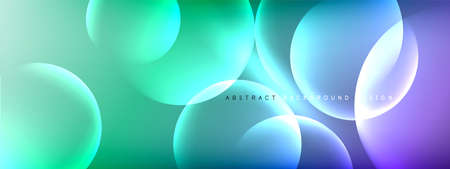 Vector abstract background liquid bubble circles on fluid gradient with shadows and light effects. Shiny design templates for text Stock fotó - 154678716