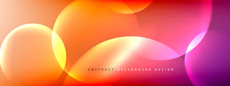 Vector abstract background liquid bubble circles on fluid gradient with shadows and light effects. Shiny design templates for text Stock fotó - 154678739