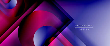 Vector geometric abstract background with lines and modern forms. Fluid gradient with abstract round shapes and shadow and light effects Stock fotó - 154679686