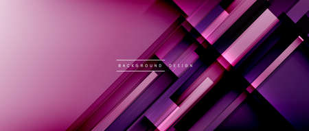 Dynamic lines on fluid color gradient. Trendy geometric abstract background for your text, logo or graphics