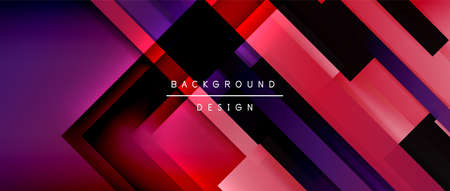 Dynamic lines on fluid color gradient. Trendy geometric abstract background for your text