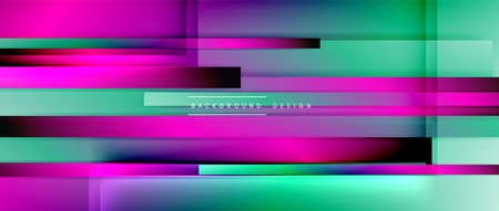 Dynamic lines on fluid color gradient. Trendy geometric abstract background