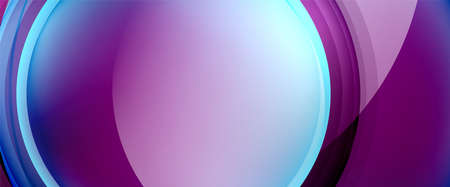 Circles and bubbles abstract background. Fluid liquid round shapes for web banner, app or poster