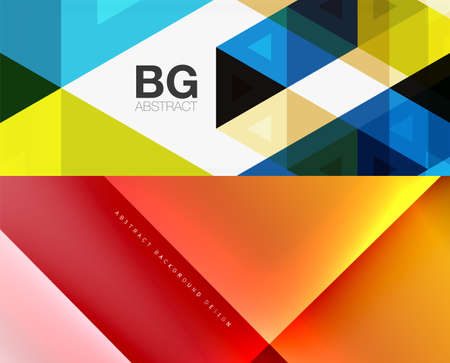 Geometric abstract backgrounds with various modern designs. Vector illustrations for covers, banners, flyers and posters and other templates