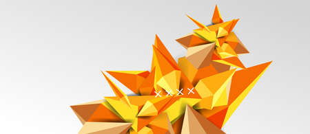 3d low poly abstract shape background vector illustration