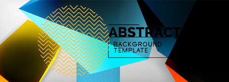 Low poly 3d geometric shapes, minimal abstract background. Vector illustrations for covers, banners, flyers and posters and other 免版税图像 - 157336127