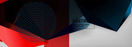 Low poly 3d geometric shapes, minimal abstract background. Vector illustrations for covers, banners, flyers and posters and other Vecteurs