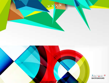 Set of trendy geometric patterns. Abstract backgrounds for covers, banners, flyers and posters and other templates