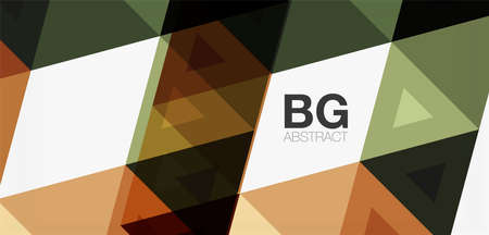 Mosaic triangle pattern abstract background for cover, banner, flyer and poster and other template