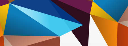 3d mosaic abstract backgrounds, low poly shape geometric design