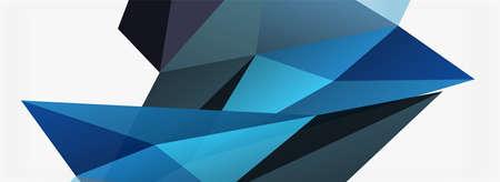 3d mosaic abstract backgrounds, low poly shape geometric design Vecteurs