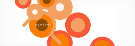 Circles and lines abstract background for covers, banners, flyers and posters and other templates 向量圖像