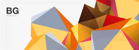 3d mosaic abstract backgrounds, low poly shape geometric design Vector Illustration