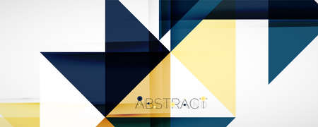 Geometric abstract background. Techno color triangle shapes. Vector illustration for covers, banners, flyers and posters and other designs