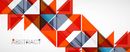 Set of vector triangle geometric backgrounds. Vector illustration for covers, banners, flyers and posters and other designs