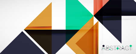 Set of vector triangle geometric backgrounds. Vector illustration for covers, banners, flyers and posters and other designs Vecteurs
