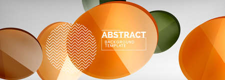 Abstract glossy round shapes vector background. Vector futuristic illustration for covers, banners, flyers and posters and other