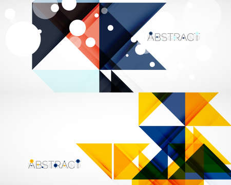 Set of triangle abstract backgrounds. Vector illustration for covers, banners, flyers and posters and other designs